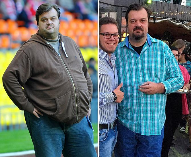 Фото Василия Уткина до и после похудения