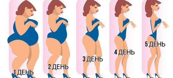 Диета Лесенка - меню на 5 дней
