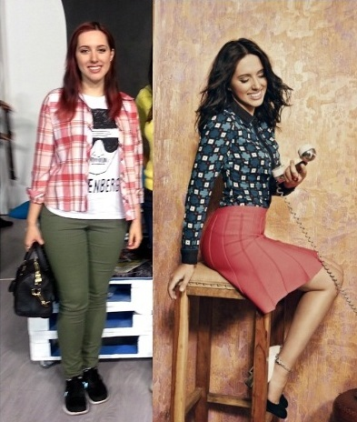 Катя Клэп до и после похудения