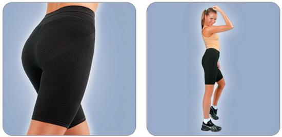 Штаны для похудения с эффектом сауны на девушке