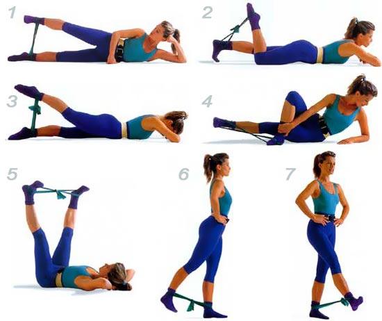 Упражнения с эспандером для похудения